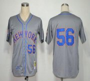 Wholesale Cheap Mitchell And Ness 1965 Mets #56 Tug McGraw Grey Stitched MLB Jersey