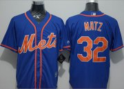 Wholesale Cheap Mets #32 Steven Matz Blue New Cool Base Alternate Home Stitched MLB Jersey