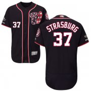 Wholesale Cheap Nationals #37 Stephen Strasburg Navy Blue Flexbase Authentic Collection 2019 World Series Champions Stitched MLB Jersey