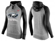 Wholesale Cheap Women's Nike Philadelphia Eagles Performance Hoodie Grey & Black_1