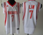 Wholesale Cheap Houston Rockets #7 Jeremy Lin White Swingman Jersey