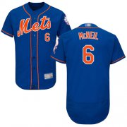 Wholesale Cheap Mets #6 Jeff McNeil Blue Flexbase Authentic Collection Stitched MLB Jersey