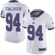 Wholesale Cheap Nike Giants #94 Dalvin Tomlinson White Women's Stitched NFL Limited Rush Jersey