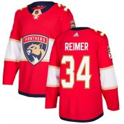 Wholesale Cheap Adidas Panthers #34 James Reimer Red Home Authentic Stitched Youth NHL Jersey