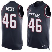 Wholesale Cheap Nike Texans #46 Jon Weeks Navy Blue Team Color Men's Stitched NFL Limited Tank Top Jersey