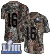 Wholesale Cheap Nike Rams #16 Jared Goff Camo Super Bowl LIII Bound Youth Stitched NFL Limited Rush Realtree Jersey