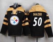 Wholesale Cheap Nike Steelers #50 Ryan Shazier Black Player Pullover NFL Hoodie