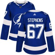 Cheap Adidas Lightning #67 Mitchell Stephens Blue Home Authentic Women's Stitched NHL Jersey