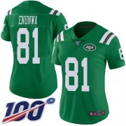 Wholesale Cheap Nike Jets #81 Quincy Enunwa Green Women's Stitched NFL Limited Rush 100th Season Jersey