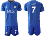 Wholesale Cheap Leicester City #7 Gray Home Soccer Club Jersey