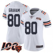 Wholesale Cheap Nike Bears #80 Jimmy Graham White Alternate Women's Stitched NFL Vapor Untouchable Limited 100th Season Jersey