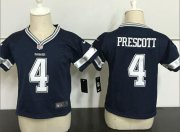Wholesale Cheap Toddler Nike Cowboys #4 Dak Prescott Navy Blue Team Color Stitched NFL Elite Jersey