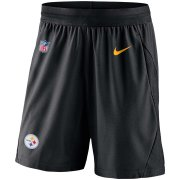 Wholesale Cheap Pittsburgh Steelers Nike Sideline Fly Performance Knit Shorts Black
