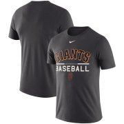 Wholesale Cheap San Francisco Giants Nike Practice Performance T-Shirt Anthracite