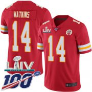 Wholesale Cheap Nike Chiefs #14 Sammy Watkins Red Super Bowl LIV 2020 Team Color Youth Stitched NFL 100th Season Vapor Untouchable Limited Jersey