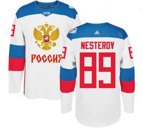 Wholesale Cheap Team Russia #89 Nikita Nesterov White 2016 World Cup Stitched NHL Jersey