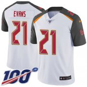 Wholesale Cheap Nike Buccaneers #21 Justin Evans White Men's Stitched NFL 100th Season Vapor Untouchable Limited Jersey