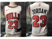 Cheap Chicago Bulls #23 Michael Jordan White Toddlers Jersey