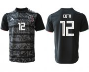 Wholesale Cheap Mexico #12 Cota Black Soccer Country Jersey