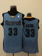 Wholesale Cheap Memphis Grizzlies #33 Marc Gasol Light Blue Swingman Jersey