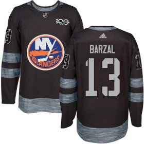 Wholesale Cheap Adidas Islanders #13 Mathew Barzal Black 1917-2017 100th Anniversary Stitched NHL Jersey