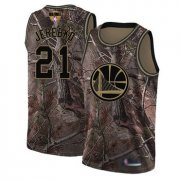 Wholesale Cheap Warriors #21 Jonas Jerebko Camo 2019 Finals Bound Basketball Swingman Realtree Collection Jersey