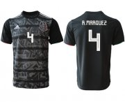 Wholesale Cheap Mexico #4 R.Marquez Black Soccer Country Jersey
