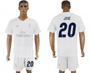 Wholesale Cheap Real Madrid #20 Jese Marine Environmental Protection Home Soccer Club Jersey