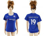 Wholesale Cheap Women's Chelsea #19 Diego Costa Home Soccer Club Jersey