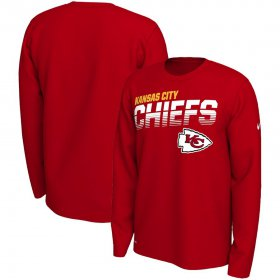 Wholesale Cheap Kansas City Chiefs Nike Sideline Line of Scrimmage Legend Performance Long Sleeve T-Shirt Red