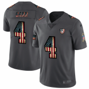 Wholesale Cheap Raiders #4 Derek Carr Nike 2018 Salute to Service Retro USA Flag Limited NFL Jersey