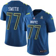 Wholesale Cheap Nike Cowboys #77 Tyron Smith Navy Youth Stitched NFL Limited NFC 2017 Pro Bowl Jersey