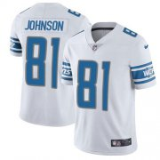 Wholesale Cheap Nike Lions #81 Calvin Johnson White Men's Stitched NFL Vapor Untouchable Limited Jersey