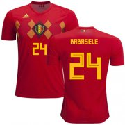Wholesale Cheap Belgium #24 Kabasele Red Soccer Country Jersey