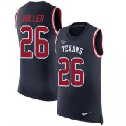 Wholesale Cheap Nike Texans #26 Lamar Miller Navy Blue Team Color Men's Stitched NFL Limited Rush Tank Top Jersey