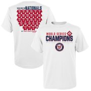 Wholesale Cheap Washington Nationals Majestic Youth 2019 World Series Champions Jersey Roster T-Shirt White