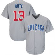Wholesale Cheap Cubs #13 David Bote Grey New Cool Base Stitched MLB Jersey