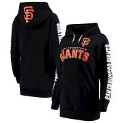 Wholesale Cheap San Francisco Giants G-III 4Her by Carl Banks Women's Extra Innings Pullover Hoodie Black