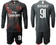 Wholesale Cheap AC Milan #91 Bertolacci Third Long Sleeves Soccer Club Jersey