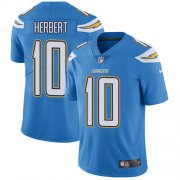 Wholesale Cheap Nike Chargers #10 Justin Herbert Electric Blue Alternate Men's Stitched NFL Vapor Untouchable Limited Jersey