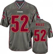 Wholesale Cheap Nike 49ers #52 Patrick Willis Grey Men's Stitched NFL Elite Vapor Jersey