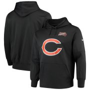 Wholesale Cheap Chicago Bears Nike 100th Season Primary Logo Circuit Performance Pullover Hoodie Anthracite
