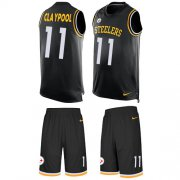 Wholesale Cheap Nike Steelers #11 Chase Claypool Black Team Color Men's Stitched NFL Limited Tank Top Suit Jersey