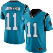 Wholesale Cheap Nike Panthers #11 Robby Anderson Blue Youth Stitched NFL Limited Rush Jersey