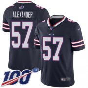 Wholesale Cheap Nike Bills #57 Lorenzo Alexander Navy Men's Stitched NFL Limited Inverted Legend 100th Season Jersey