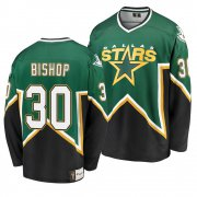 Wholesale Cheap Dallas Stars #30 Ben Bishop Kelly Green Men's Heritage Premier Breakaway Player NHL Jersey