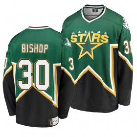 Wholesale Cheap Dallas Stars #30 Ben Bishop Kelly Green Men\'s Heritage Premier Breakaway Player NHL Jersey