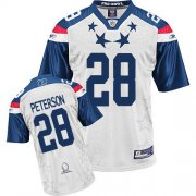 Wholesale Cheap Vikings #28 Adrian Peterson 2011 White and Blue Pro Bowl Stitched NFL Jersey