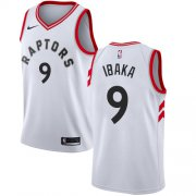 Wholesale Cheap Raptors #9 Serge Ibaka White Women's Basketball Swingman Association Edition Jersey