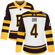 Wholesale Cheap Adidas Bruins #4 Bobby Orr White Authentic 2019 Winter Classic Women's Stitched NHL Jersey